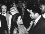 Robin Givens with Muhammad Ali  Ivana Trump and Donald Trump's Father  Fred  at Tyson-Spinks Fight
