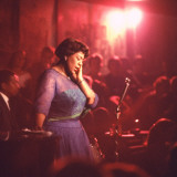 Jazz Singer Ella Fitzgerald Performing at &quot;Mr Kelly&#39;s&quot; Nightclub