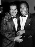 Boxing Greats Roberto Duran and Sugar Ray Leonard at 20th Anniversary of World Boxing Council
