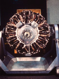 Front View of Pratt and Whitney &#39;Wasp&#39; Airplane Engine at Pratt and Whitney Aircraft Parts Factory