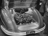 The Italian Isotta Fraschini's Engine Which Is in the Rear of the Car Being Shown at the Auto Show