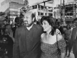 Director Rob Reiner with Wife  Michele Singer  Arriving at Movie Premiere &quot;When Harry Met Sally&quot;