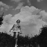 David Smith's Daughter  Joy  Practicing Her Ballet