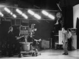 "CBS Cameraman Filming Ed Sullivan During ""The Ed Sullivan Show "" Cue Cards are Visible Behind Him"