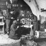 British Instructional Team Training Greek Commandos at Forward Command Post North of Konitsa