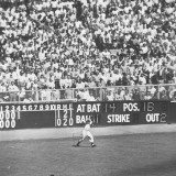 NY Yankee Irv Noren Catching Long Fly Ball Hit by Brooklyn Dodger  World Series at Yankee Stadium