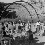 Natives Worshiping in the Quonset Episcopel Church  Which Was Delivered by Helicopters