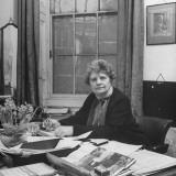 Viscountess Maragaret Craig  Sitting at Her Desk