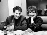 Country/Western Singer KD Lang with Actress Liza Minnelli at a Party to Celebrate Lang's Concert