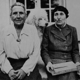 Lesbian Authors Gertrude Stein and Alice B Toklas with their Poodle Basket II