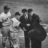 NY Yankee Manager Casey Stengel Arguing with Umpire in World Series at Ebbetts Field