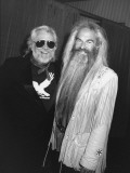 Country-Rock Singers Ronnie Hawkins and William Lee Golden Backstage at Concert in the Silverdome