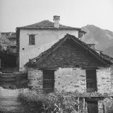 Houses  Built of Native Rockstone  in Tessin Village Although Covered with White Cement