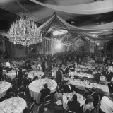 The Nation's Elite Dining and Dancing in Waldorf Astoria Hotel Ballroom During Society Gala