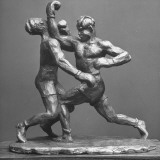 Sculptor Cecil Howard's Sculpture of Boxers