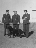 Three British RAF Officers: RE Dupont  RH Waterhouse and Mellor Chatting at Camp Borden