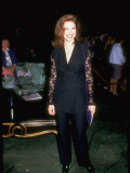 Actress Mimi Rogers Wearing $1 275 Dolce and Gabbana Linen Suit to MTV Awards