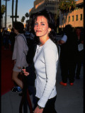 Actress Courteney Cox on Her Way to Host MTV Movie Awards Outside Warner Bros Studios