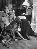 Sean Macbride's Mother  Maud Gonne Macbride  Sitting at Home with Her Dog