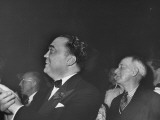 "FBI Chief J Edgar Hoover and Al Smith  Watching ""Hellzapoppin "" a Musical Comedy Show"