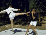 King Constantine of Greece Practicing Karate with Prince Juan Carlos of Spain