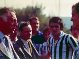 President of Fiat Gianni Agnelli Talking to Soccer Players;1968