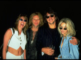 Jon Bon Jovi  Richie Sambora and Heather Locklear at Opening of Rock and Roll Hall of Fame
