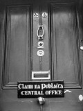 The Doorway of the Brand New Headquarters of Clann Na Poblachta at 20 Herbert Place