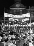 Premier Eamon De Valera Speaking at a Campaign Meeting at Night in Mullingar