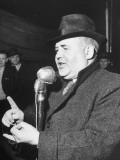Labour Party Leader William Norton Speaking at a Political Rally