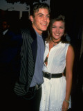 Actress Tiffani-Amber Thiessen with Beau  Actor Brian Austin Green