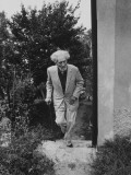 Poet Ezra Pound  95  Walking Up Outside Stairs at the Side of His Apt Building