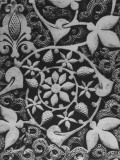 Stylized Vegetation Motif in a Stucco Panel in the Alhambra