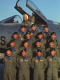 F-100 Pilots of 613th Tactical Fighter Squadron on Base