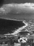 Aerial of Santa Monica Bay