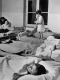 Children Sleeping in Crowded Ward at Orphanage