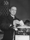 Premier Eamon De Valera Casting His Vote