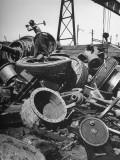 General View of Scrap Metal at Plant