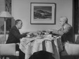 Paul G Hoffman Having Lunch with William L Clayton