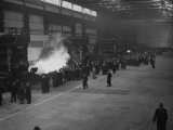 A View of People Touring the Unfinished Irvin Steel Mills