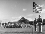 US Soldiers Marching in Formation in the Canal Zone