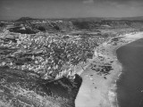 An Aerial View Showing the Fishing Village of Nazare