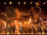 Timed Exposure of Eliot Feld Ballet Company Performing