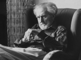 Poet Ezra Pound  95  Relaxing in Wing Chair in Apt
