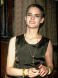 Actress Jennifer Jason Leigh Sporting Crewcut Hairstyle
