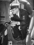 Airline Employee Checking Equipment