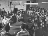 Members of Boys' Club Playing Pool