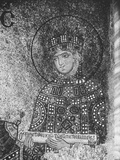 A Detailed Mosaic of the Byzantine Empress Zoe  Empress Who Ruled Byzantium from 1028-1050