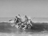 Members of the US Marine Raider Battalion Training in Landing Maneuvers Off Coast of San Diego