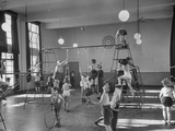 One of Doncaster's New Schools Showing Children Enjoying the Gym and All of its Equipment